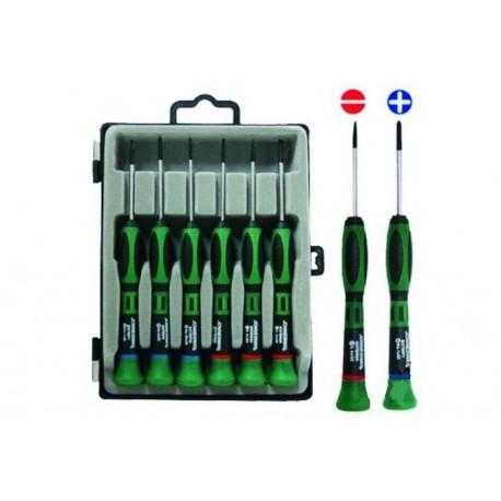 Set preciznih odvijača ravni i krstasti 6kom D3750P06S