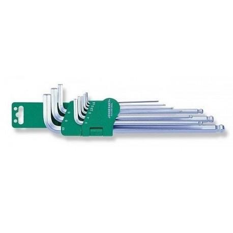 Set inbus dvostranih ključeva sa zaobljenom glavom 9kom H06SM109S
