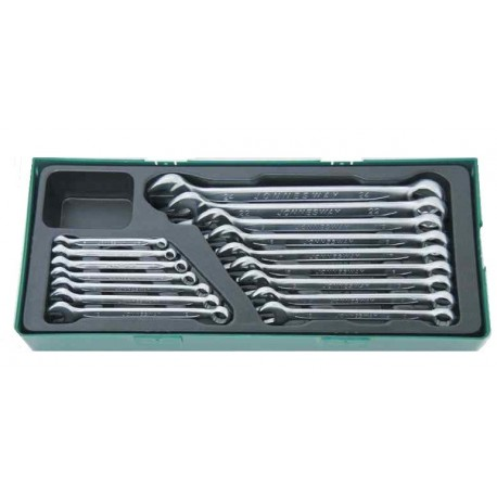 Set okasto-viljuškastih ključeva 16kom W26116SP